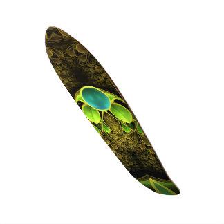 Beautiful Fractal Feathers of the Quetzal Bird Skate Decks