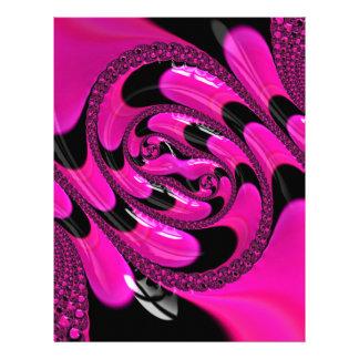 Beautiful Fractal Pattern Letterhead Template
