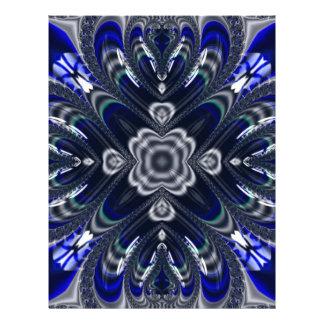 Beautiful Fractal Pattern Custom Letterhead