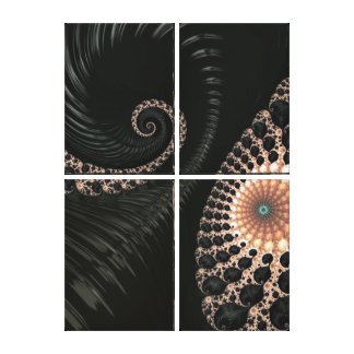Beautiful Fractal Swirls Art Decor Stretched Canvas Print