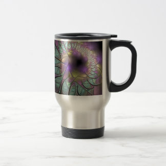 Beautiful fractal travel mug