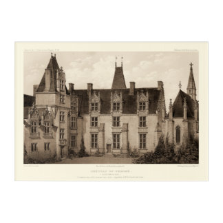 Beautiful French Chateau in Sepia Tones Acrylic Print
