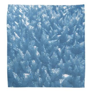 beautiful fresh blue ice crystals photograph bandana