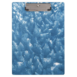 beautiful fresh blue ice crystals photograph clipboard