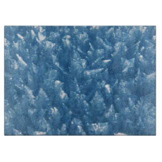 beautiful fresh blue ice crystals photograph cutting board