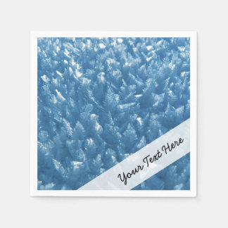 beautiful fresh blue ice crystals photograph disposable napkin