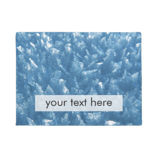 beautiful fresh blue ice crystals photograph doormat