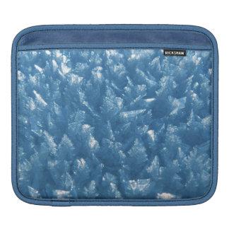 beautiful fresh blue ice crystals photograph iPad sleeve