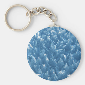 beautiful fresh blue ice crystals photograph keychain