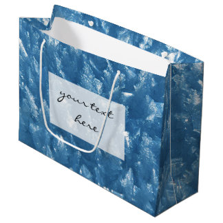 beautiful fresh blue ice crystals photograph large gift bag