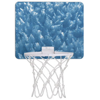 beautiful fresh blue ice crystals photograph mini basketball backboard