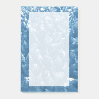 beautiful fresh blue ice crystals photograph post-it notes