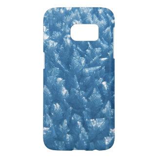 beautiful fresh blue ice crystals photograph samsung galaxy s7 case