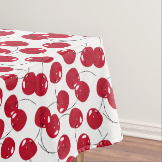 Beautiful Fresh Red Cherry Themed Tablecloth