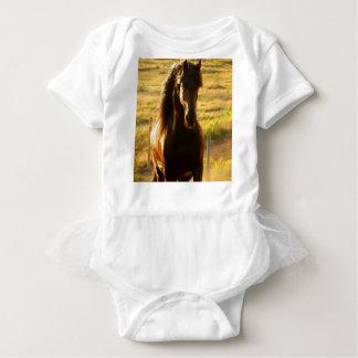 BEAUTIFUL FRIESIAN HORSE STALLION BABY BODYSUIT