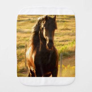 BEAUTIFUL FRIESIAN HORSE STALLION BURP CLOTH