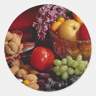 Beautiful Fruit arrangement Classic Round Sticker