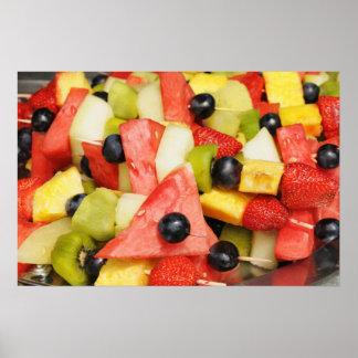 Beautiful fruit salad poster