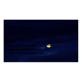 Beautiful Full Moon in Midnight Blue Clouds Pack Of Standard Business Cards