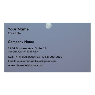 Beautiful Full Moon In The Evening Business Card Template