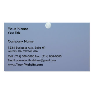 Beautiful Full Moon In The Evening Business Card Templates