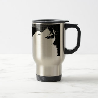 Beautiful furry Samoyed white dog Travel Mug