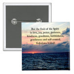 BEAUTIFUL GALATIANS FRUITS OF THE SPIRIT 2 INCH SQUARE BUTTON