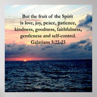 BEAUTIFUL GALATIANS FRUITS OF THE SPIRIT POSTER