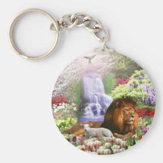 Beautiful Garden Basic Round Button Keychain