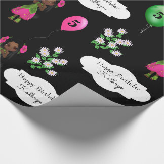 Beautiful Garden Fairy Birthday Wrapping Paper