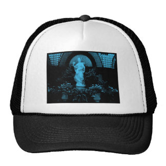 Beautiful garden statue tinted in blue.  Gorgeous Trucker Hat
