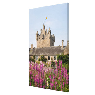 Beautiful gardens and famous castle in Scotland 2 Canvas Print