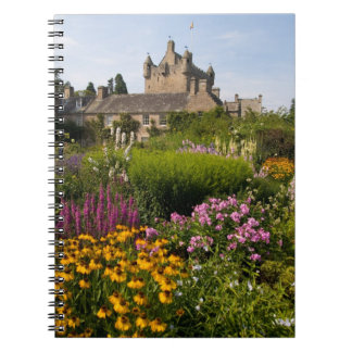 Beautiful gardens and famous castle in Scotland Spiral Notebook