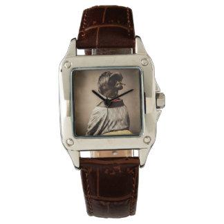 Beautiful Geisha Profile from Back Vintage Japan Wristwatch