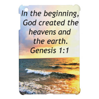 BEAUTIFUL GENESIS 1:1 BIBLE QUOTE DESIGN iPad MINI CASES
