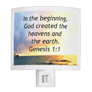 BEAUTIFUL GENESIS 1:1 BIBLE QUOTE DESIGN NITE LITE