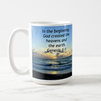 BEAUTIFUL GENESIS 1:1 SUNRISE PHOTO DESIGN COFFEE MUG