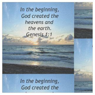 BEAUTIFUL GENESIS 1:1 SUNRISE PHOTO DESIGN FABRIC