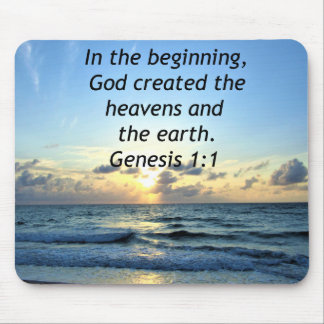 BEAUTIFUL GENESIS 1:1 SUNRISE PHOTO DESIGN MOUSE PAD