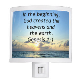 BEAUTIFUL GENESIS 1:1 SUNRISE PHOTO DESIGN NIGHT LIGHT