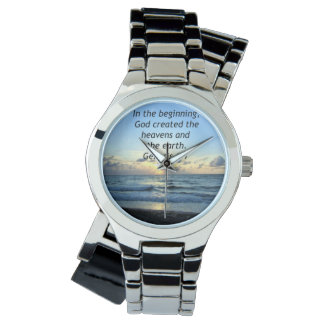 BEAUTIFUL GENESIS 1:1 SUNRISE PHOTO DESIGN WATCH