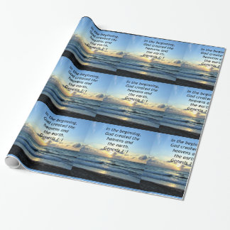 BEAUTIFUL GENESIS 1:1 SUNRISE PHOTO DESIGN WRAPPING PAPER