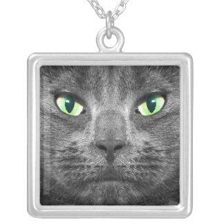 Beautiful George grey cat necklace