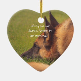 Beautiful German Shepherd Lost Pet Ornament