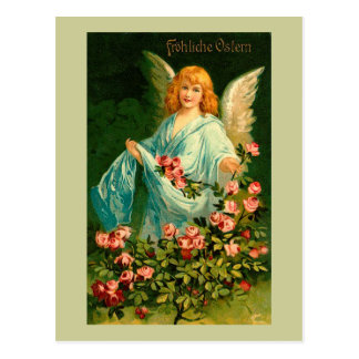 Beautiful German Vintage Easter Angel Postcard