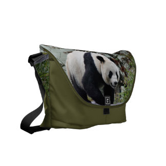 Beautiful Giant Panda Bear Photographic Messenger Bag