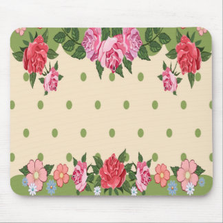 Beautiful Girl Flowers Customized Mousepad, Pretty Mouse Pad