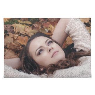 beautiful-girl placemat
