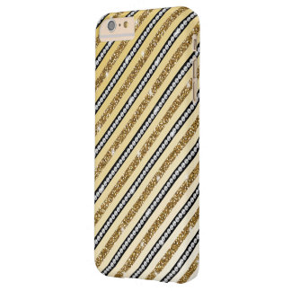 Beautiful girly  gold faux glitter white pearls barely there iPhone 6 plus case