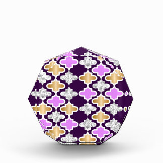 Beautiful girly pattern with gold and purple